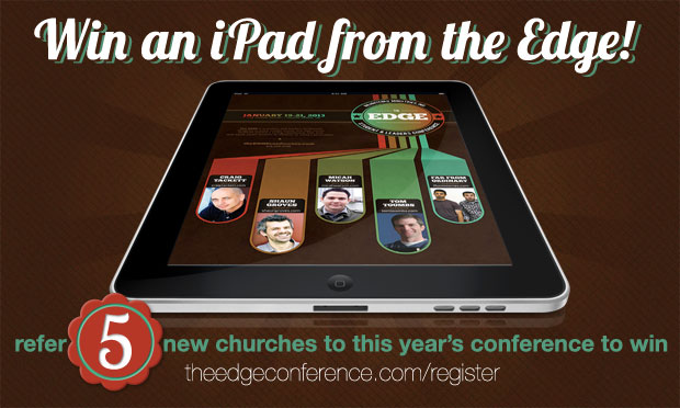 Win An iPad From The Edge Youth Conference